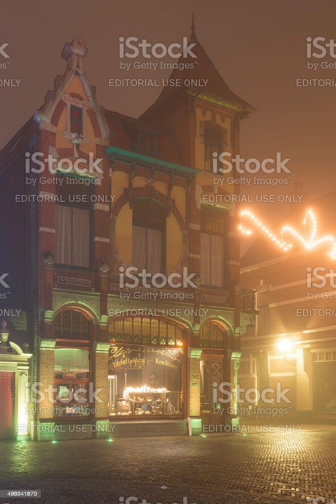 Jugendstil architecture bakery stock photo
