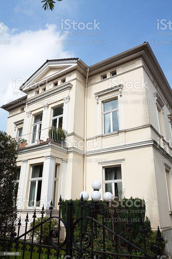Jugendstil villa stock photo