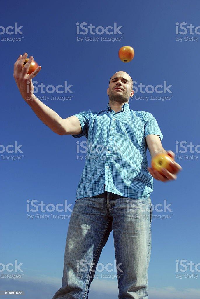 Juggler royalty-free stock photo