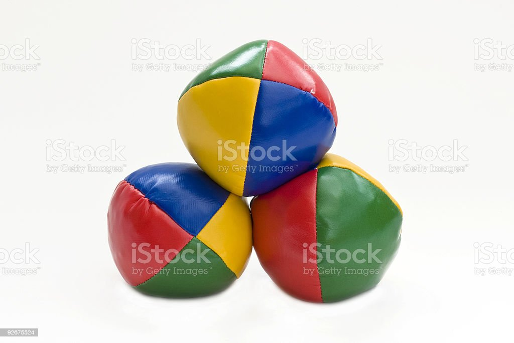 Juggling balls royalty-free stock photo