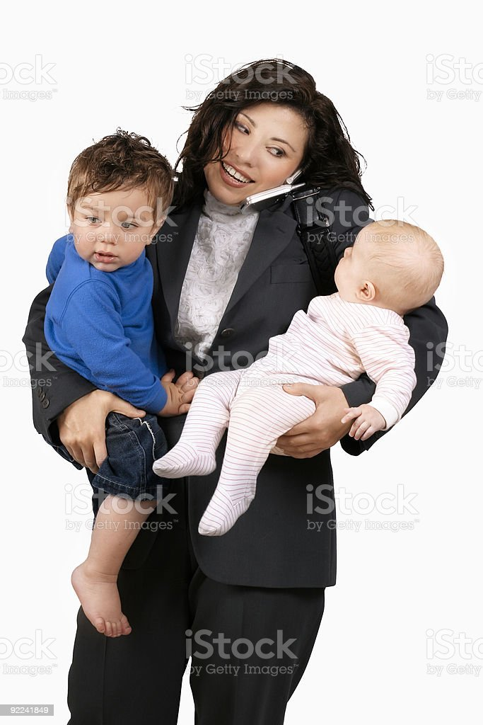Juggling career family stock photo