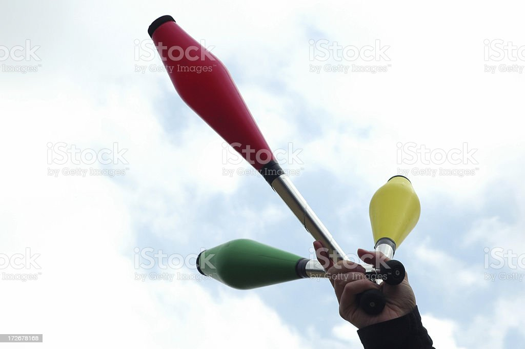 juggling clubs royalty-free stock photo