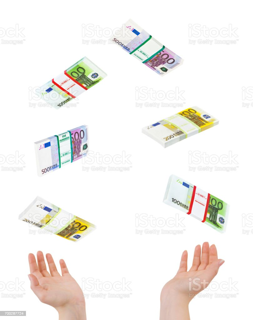 Juggling hands and money stock photo