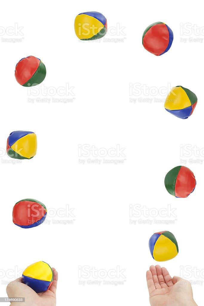 Juggling Overload stock photo