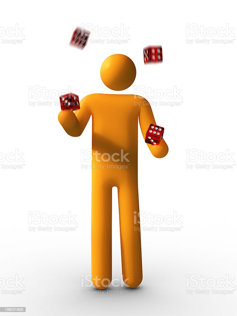 Juggling with Dice royalty-free stock photo