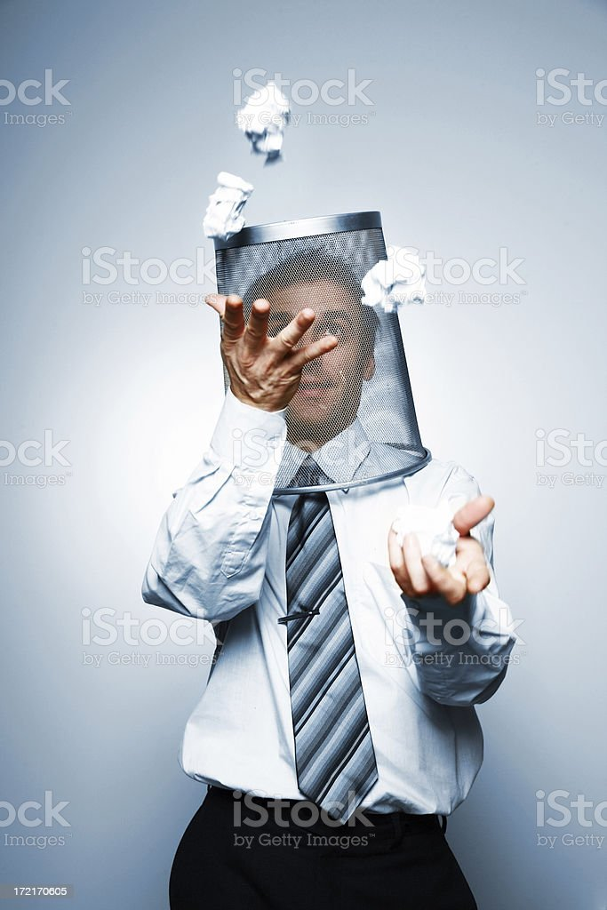 Juggling with paper royalty-free stock photo