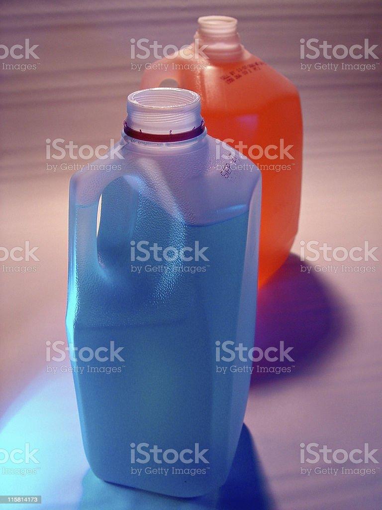 Jugs of Liquid royalty-free stock photo
