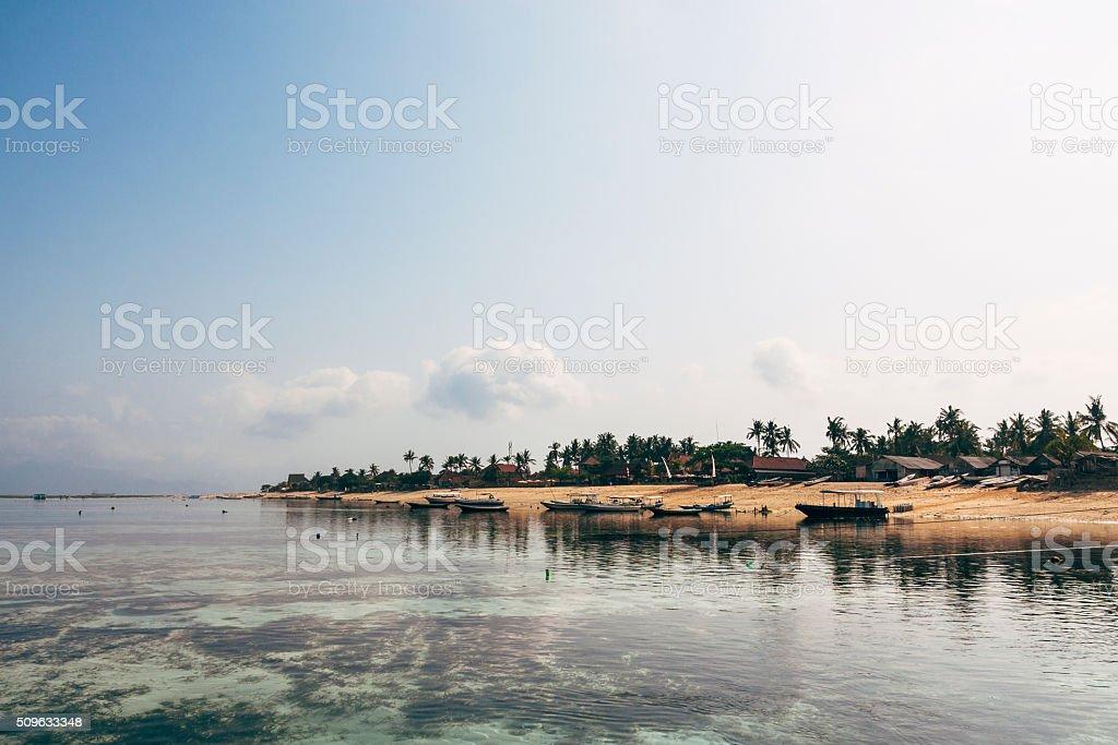 Jugut Batu beach on Nusa Lembongan, Bali, Indonesia stock photo