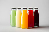Juice Bottle Mock-Up - Multiple Bottles