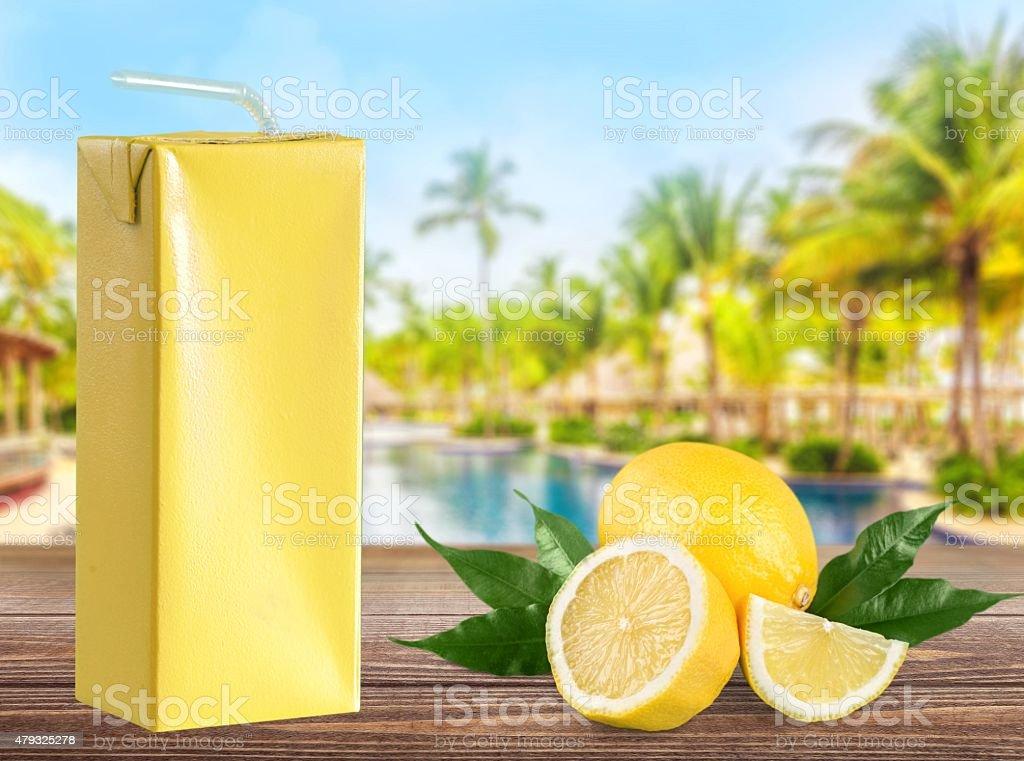 Juice Box, Box, Drink stock photo
