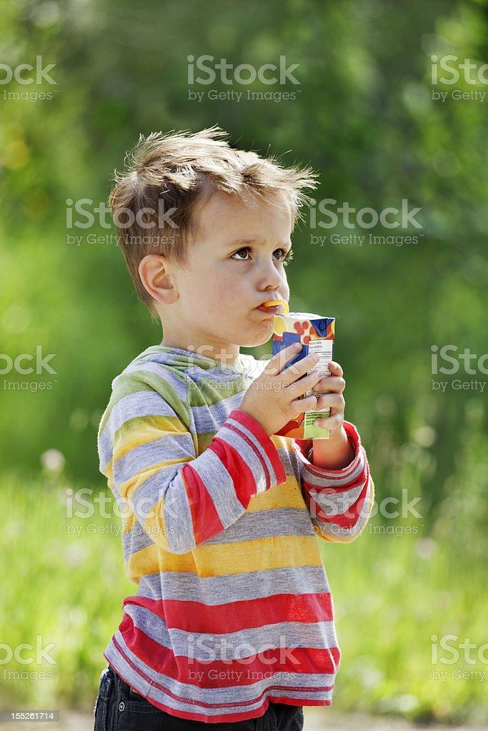 Juice box break stock photo