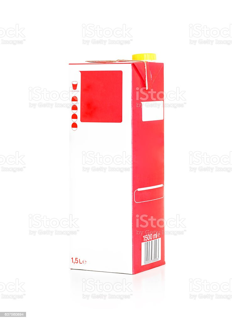 Juice Box With Clipping Path stock photo