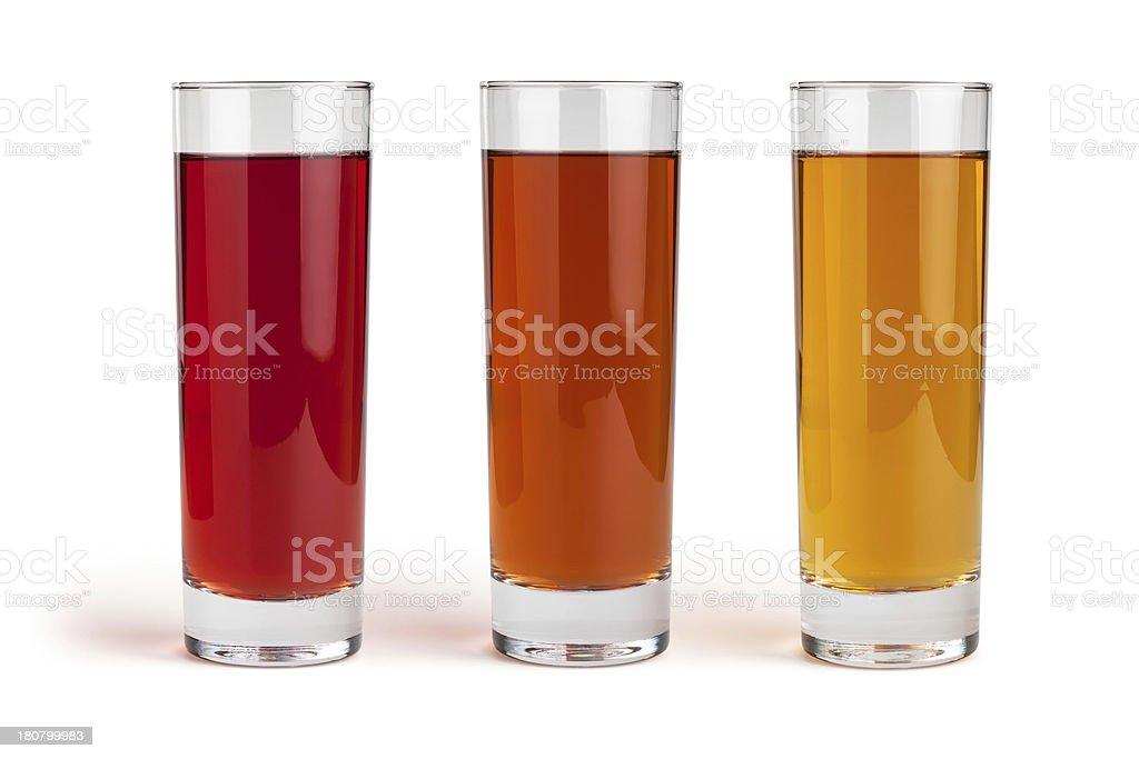 juice glass set royalty-free stock photo