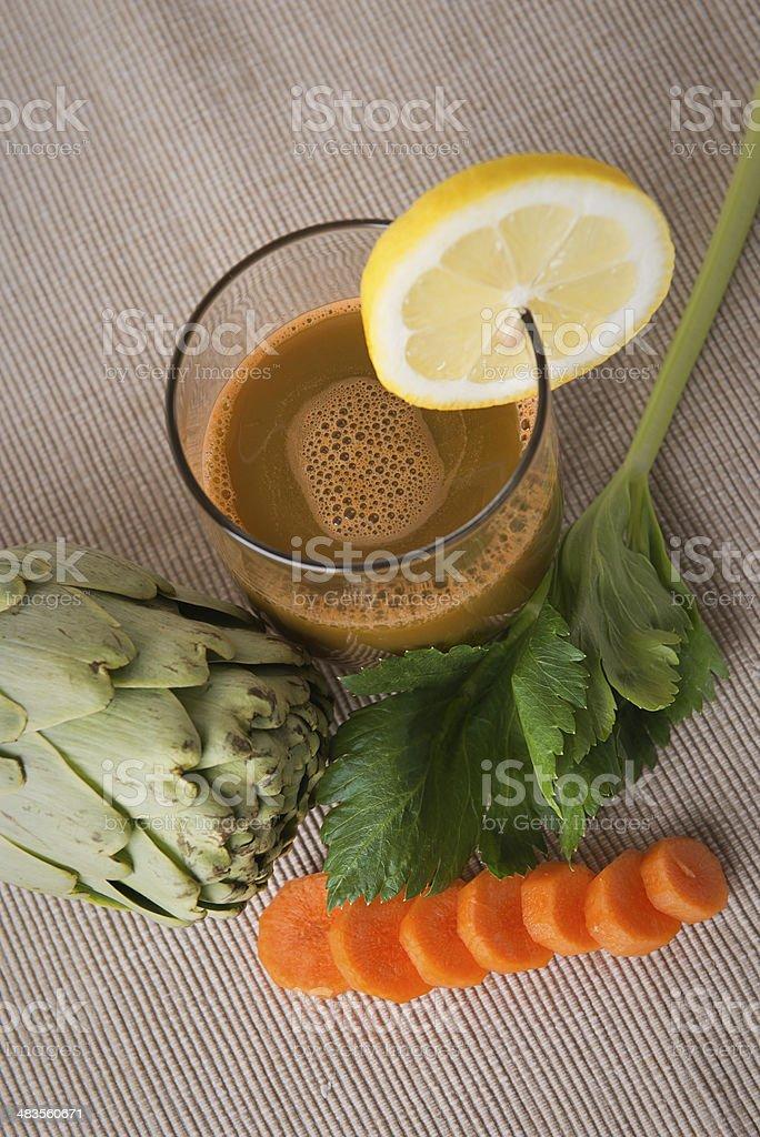 Juice of artichoke stock photo
