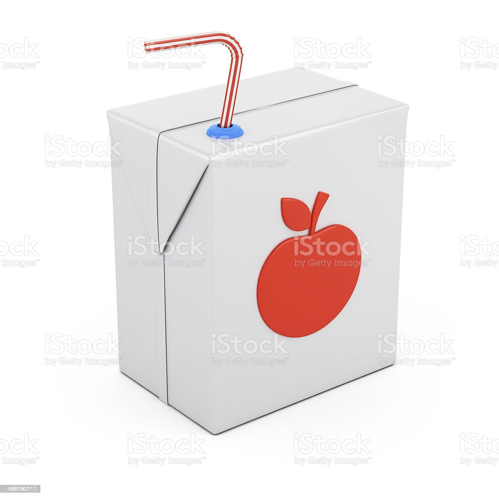 Juice package stock photo