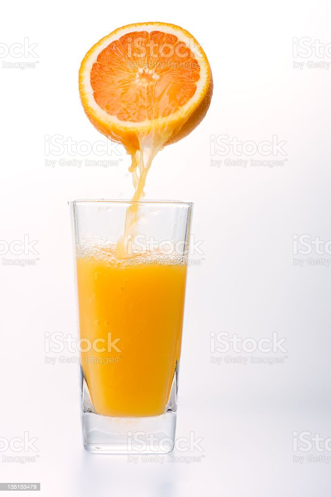 Juice to pour from orange royalty-free stock photo