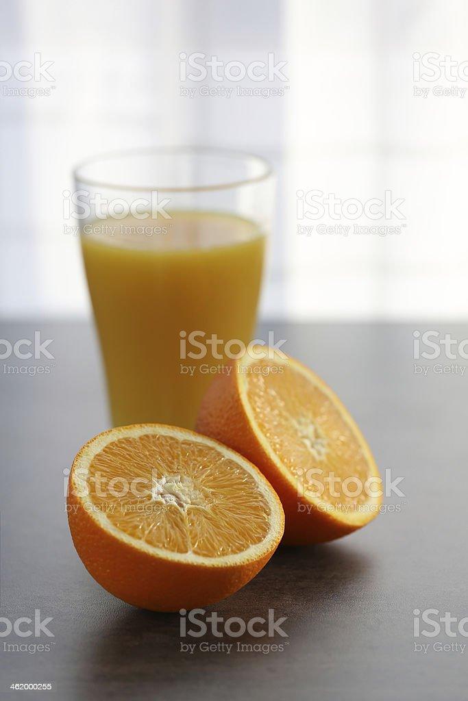 Juice with oranges royalty-free stock photo