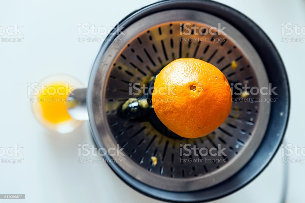Juicer and juice stock photo