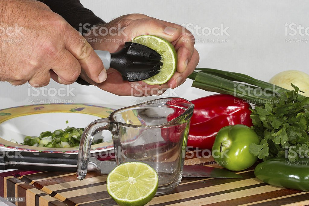 Juicing A Lime royalty-free stock photo