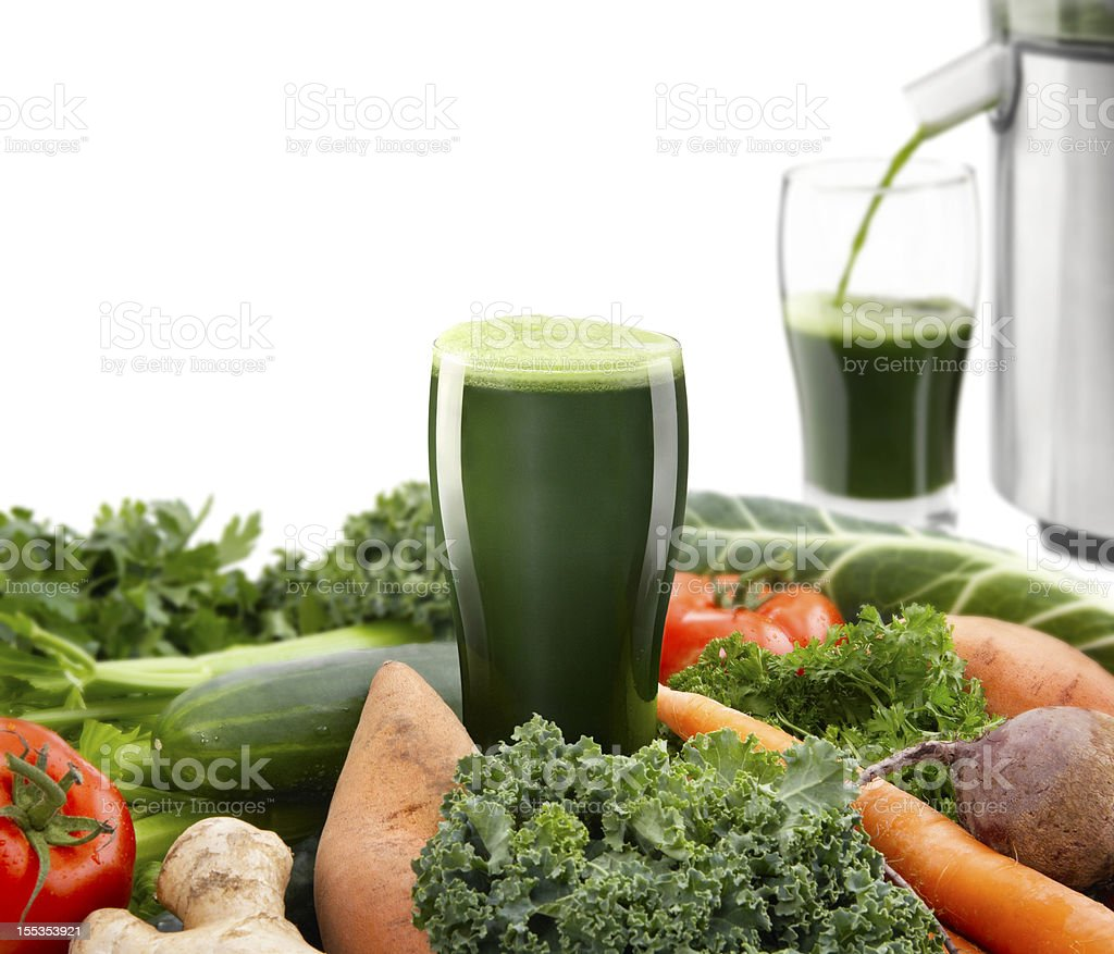 Juicing Vegetables stock photo