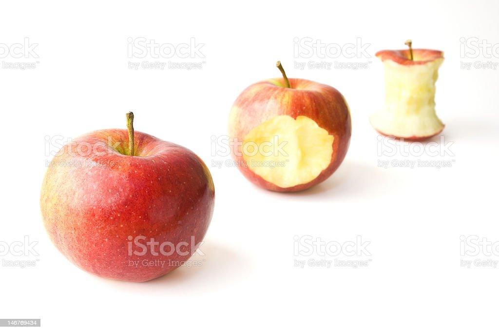Saftiges Apple schmatzen Lizenzfreies stock-foto