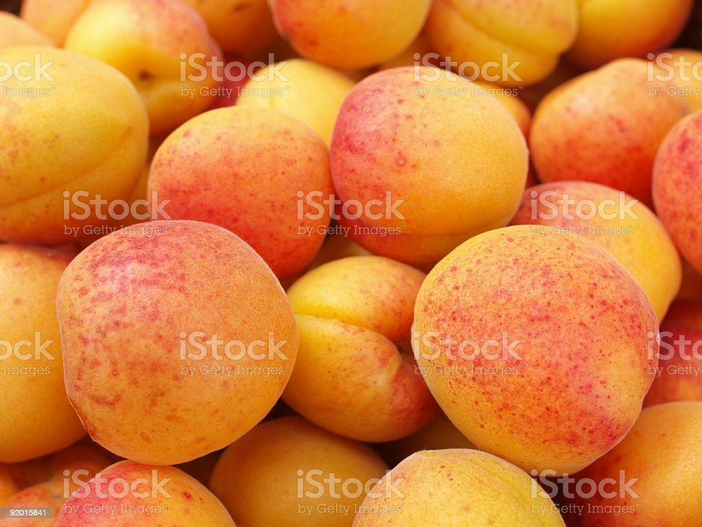 Juicy apricots, full of Vitamin C  royalty-free stock photo