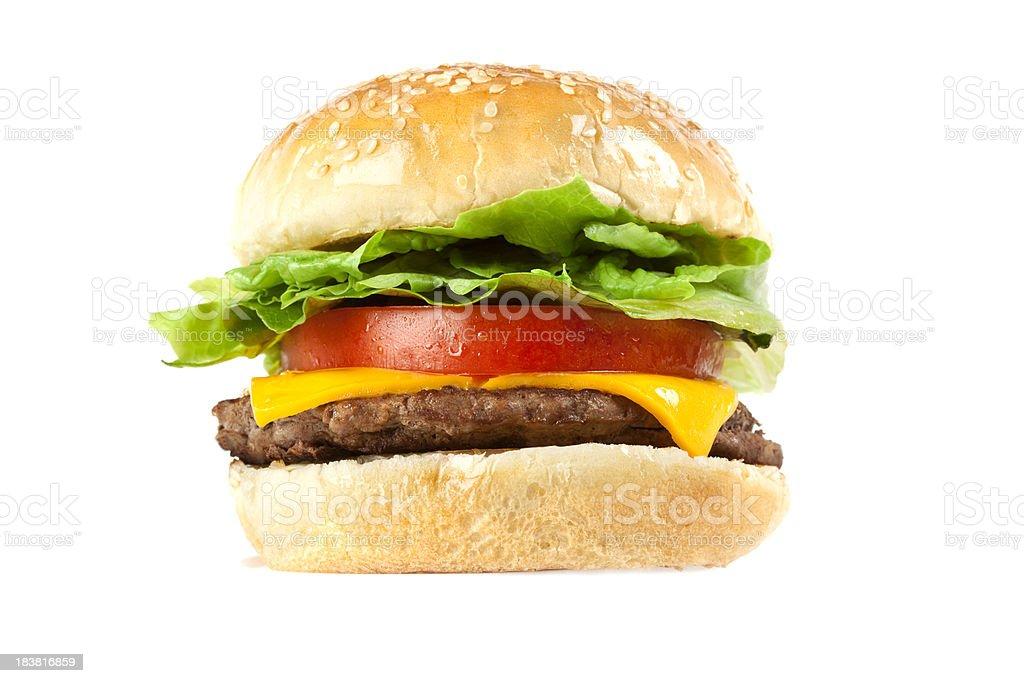 Juicy Beef Cheese Burger stock photo
