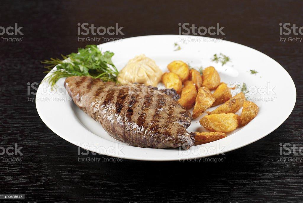 Juicy beef steak royalty-free stock photo