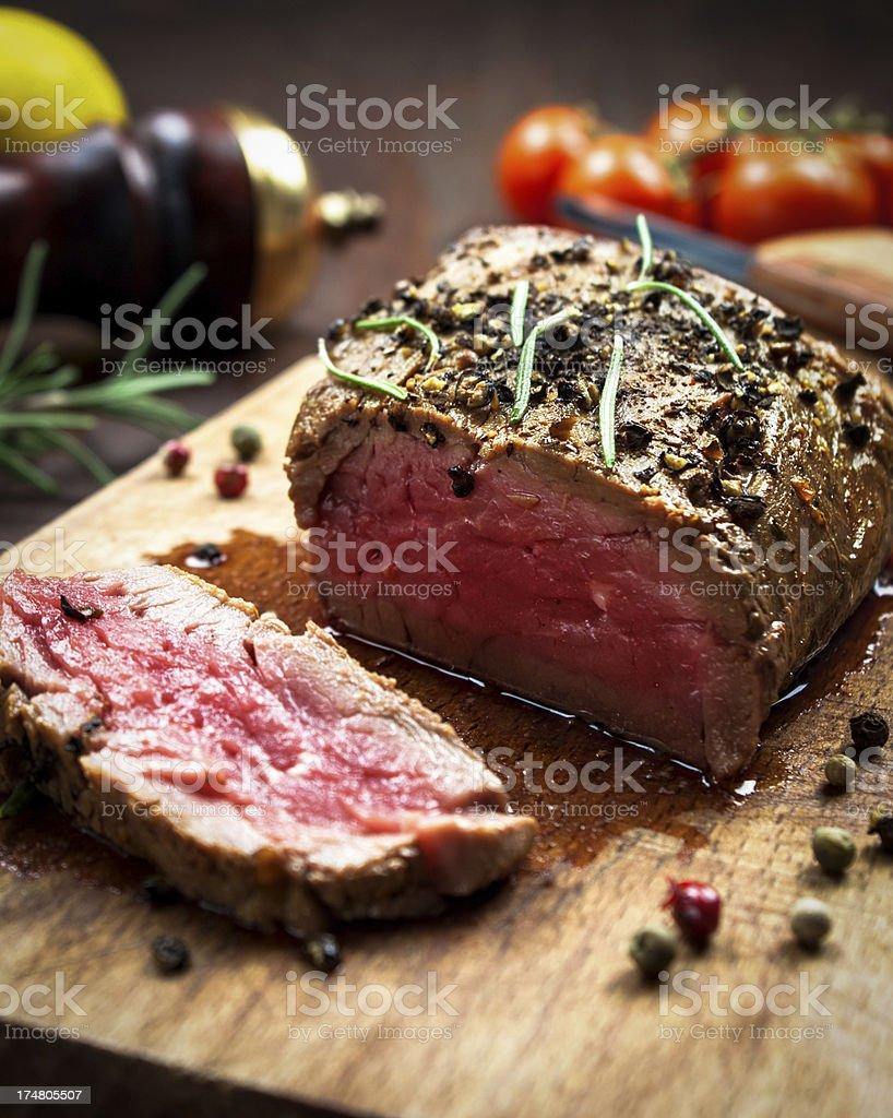 Juicy Beef Steak stock photo