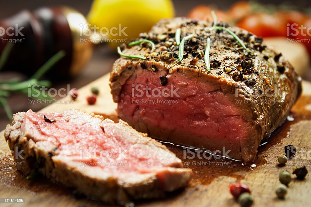 Juicy Beef Steak stock photo