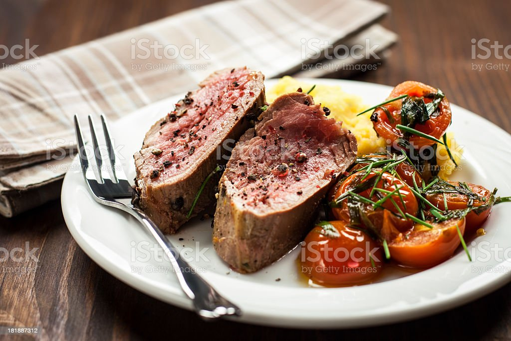 Juicy Beef with vegetables royalty-free stock photo