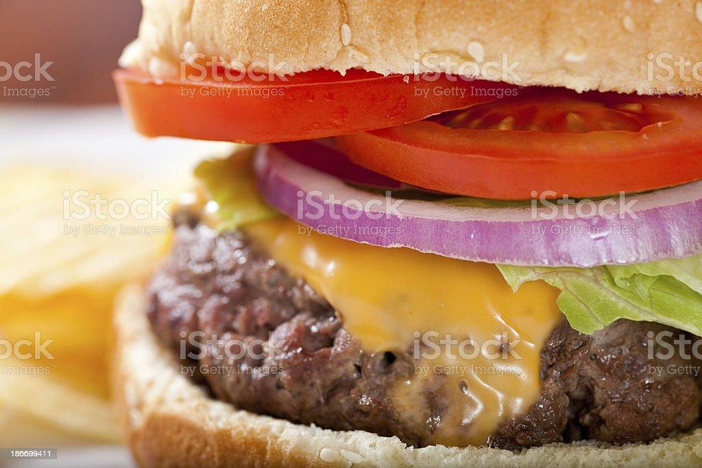 Juicy Cheeseburger royalty-free stock photo