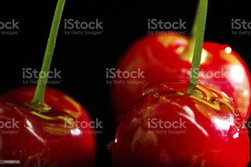 Juicy cherries royalty-free stock photo