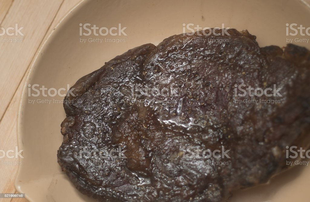 Juicy Cooked Steak Grilled BBQ stock photo