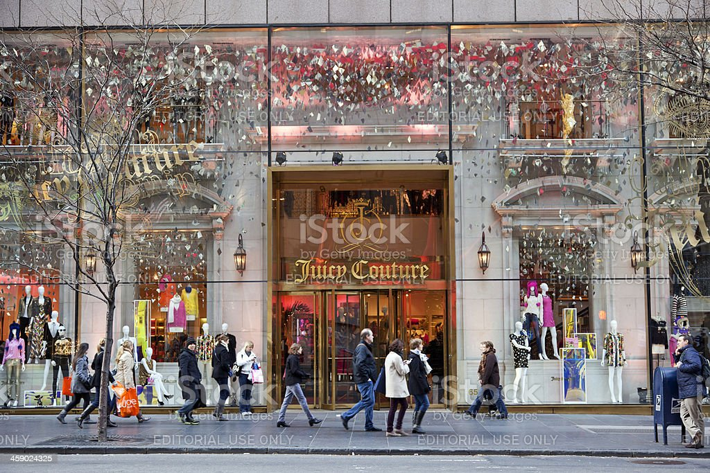 Juicy Couture store NYC # 2 XXXL royalty-free stock photo