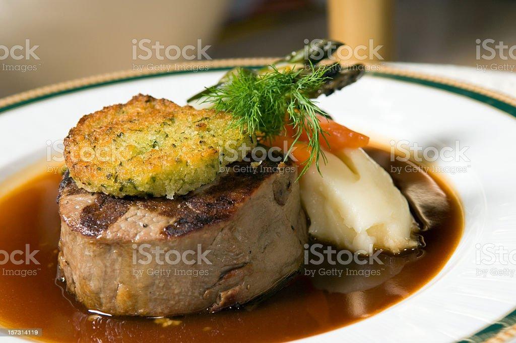 juicy fancy filet stock photo