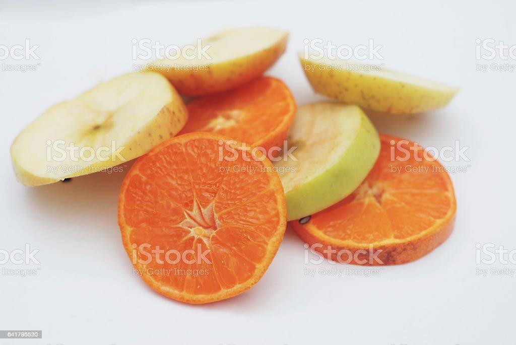 Juicy fruit, citrus layers stock photo