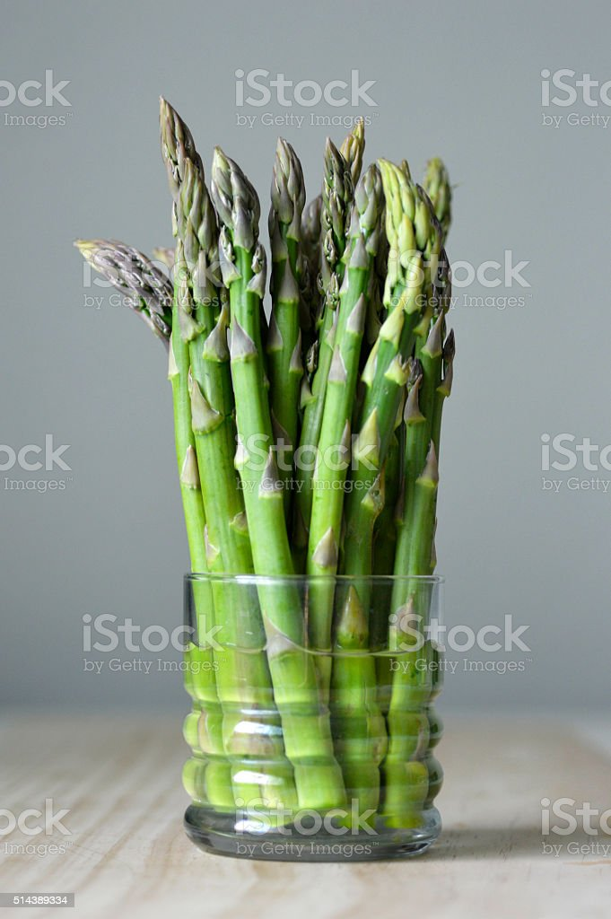 Juicy green asparagus stock photo