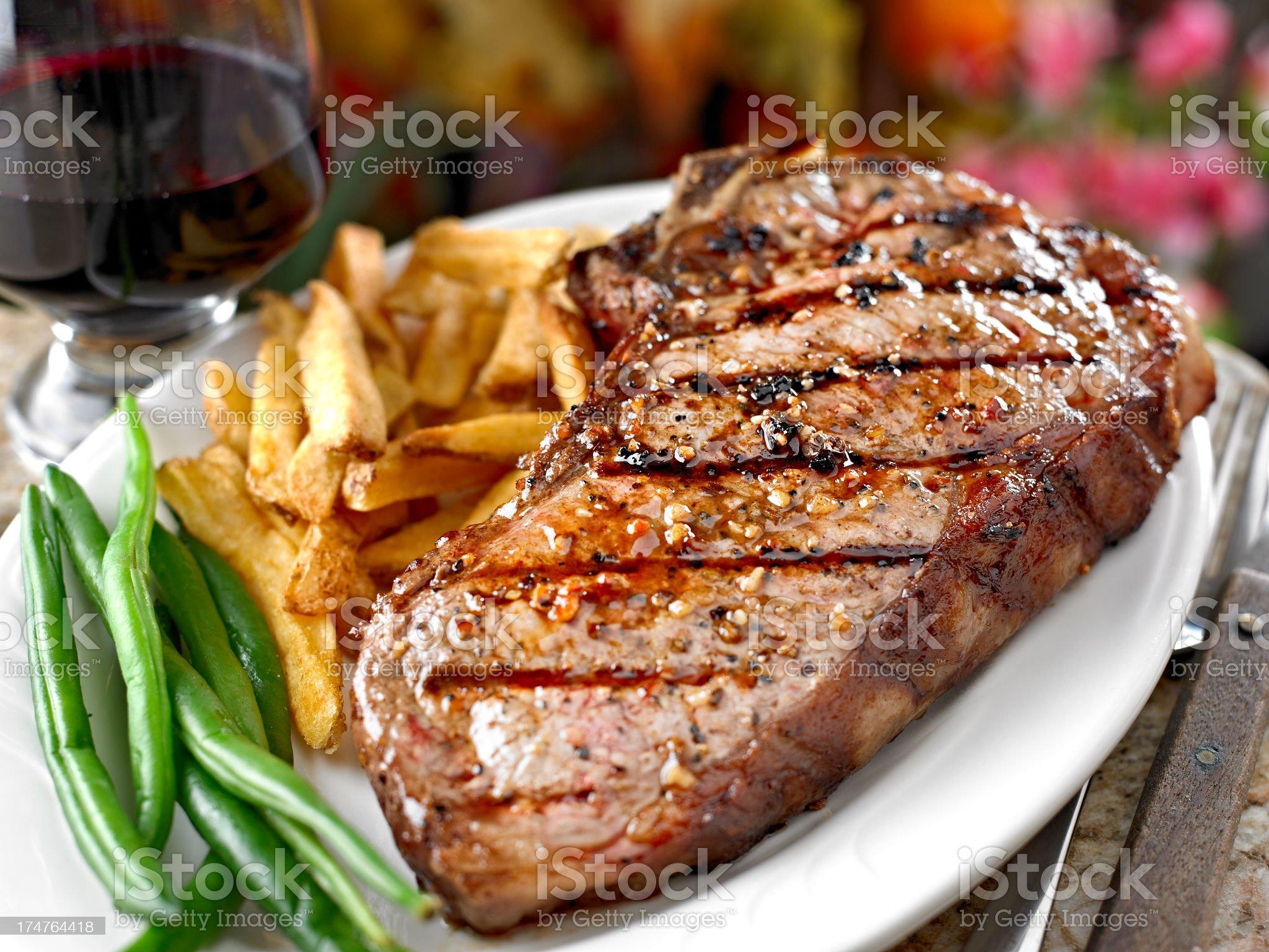 Juicy Grilled Steak royalty-free stock photo