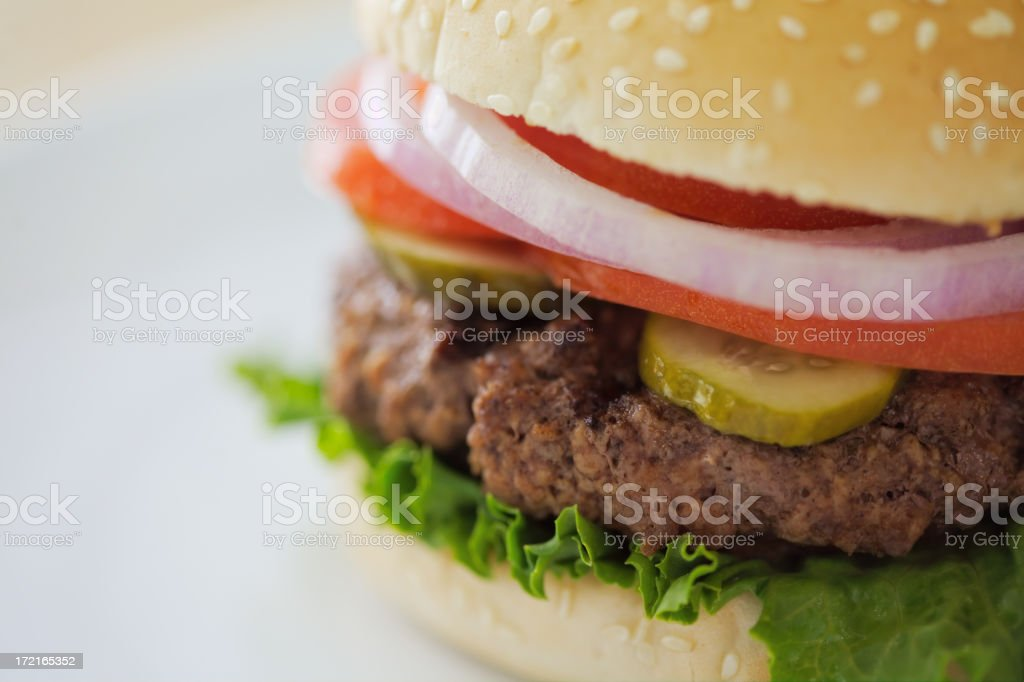 Juicy Hamburger stock photo