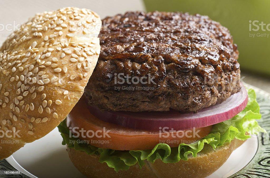 Juicy Hamburger stock photo