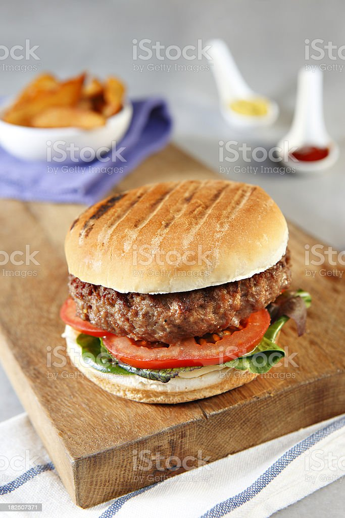 Juicy Hamburger royalty-free stock photo
