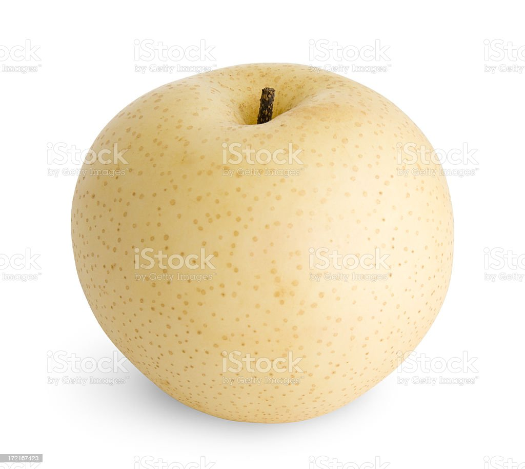 Juicy Isolated Asian Pear (including Clipping Path) stock photo