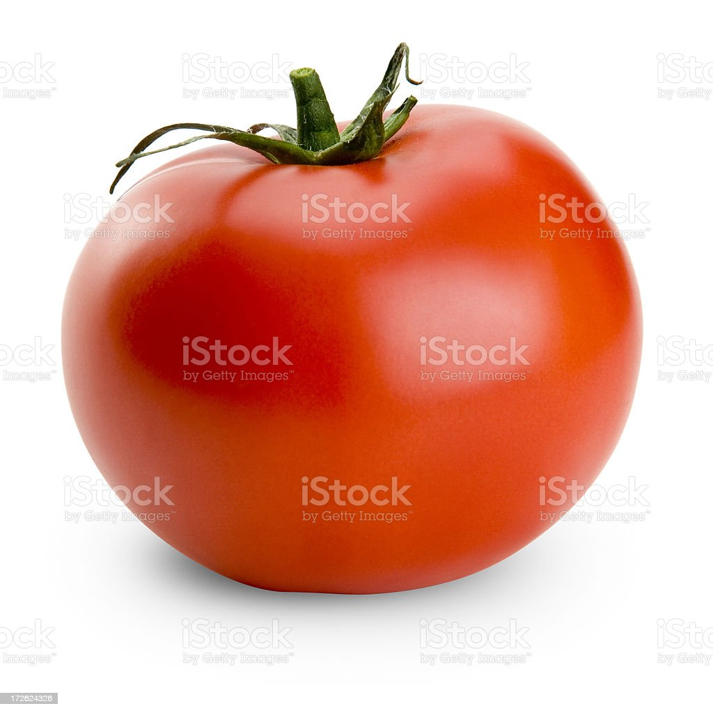 Juicy Isolated Tomato (with Clipping Path) stock photo