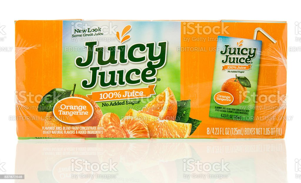 Juicy Juice Orange stock photo