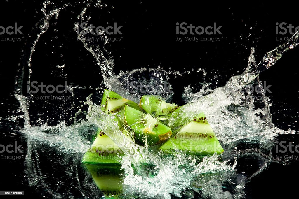 Juicy kiwi stock photo