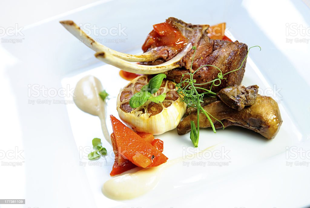 Juicy lamb steak royalty-free stock photo