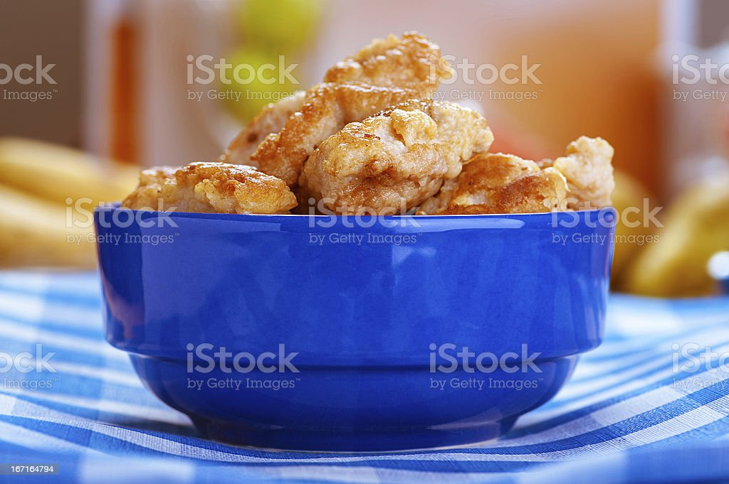 Juicy meat nuggets royalty-free stock photo