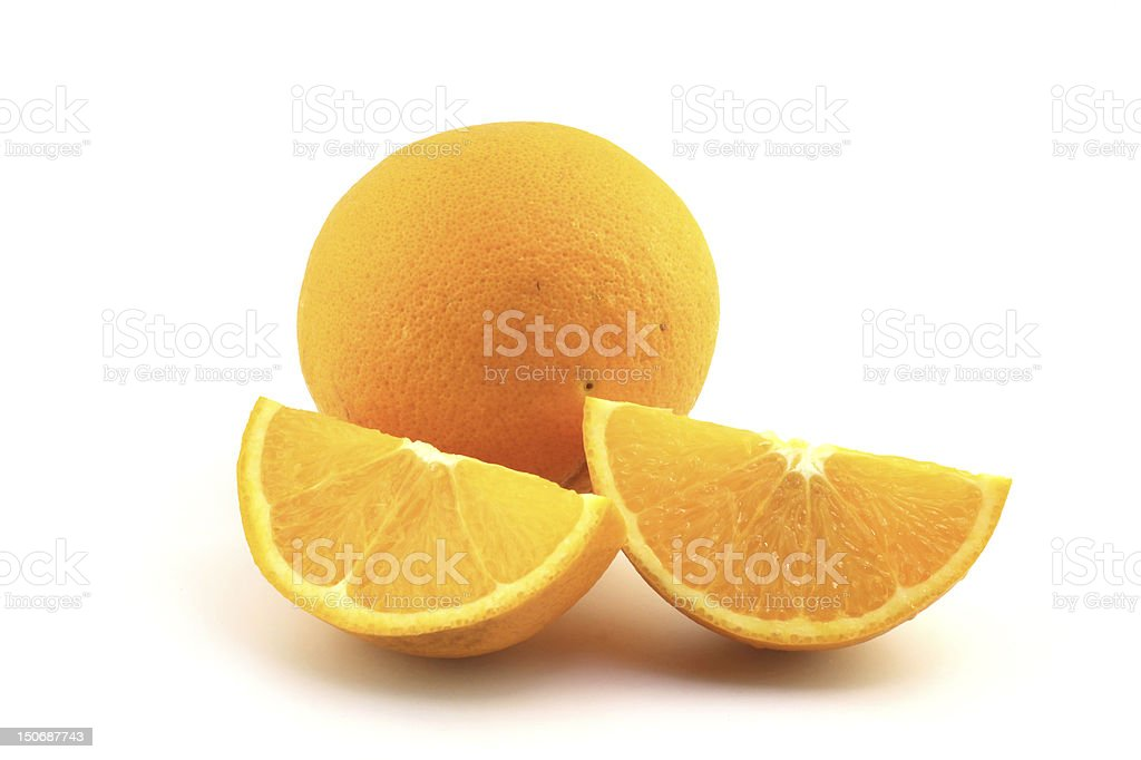 Juicy Navel Oranges make a delicious snack royalty-free stock photo