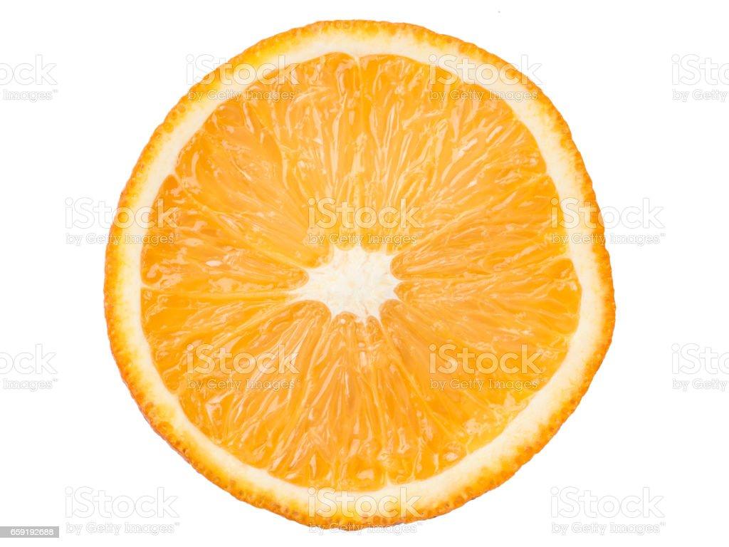 juicy orange slice stock photo